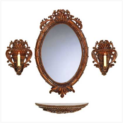 38302_Carved_Tuscan_Mirror_wall_ensemble_Taper