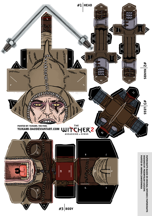 The_Witcher_2_auckes_papercraft_display