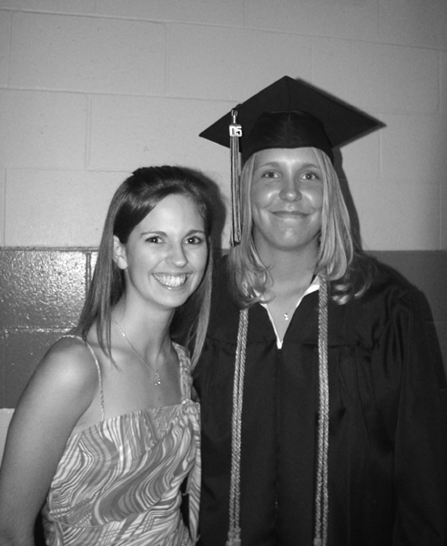Krista_and_Casey_at_Graduation_b_w