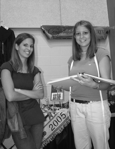 Krista_and_Megan_at_Megans_Graduation_party_b_w